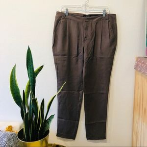 In Add Minus 100% Silk Pleated Pant NWT